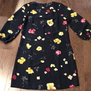 Navy Floral Ann Taylor Dress